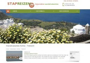 STAP Reizen website